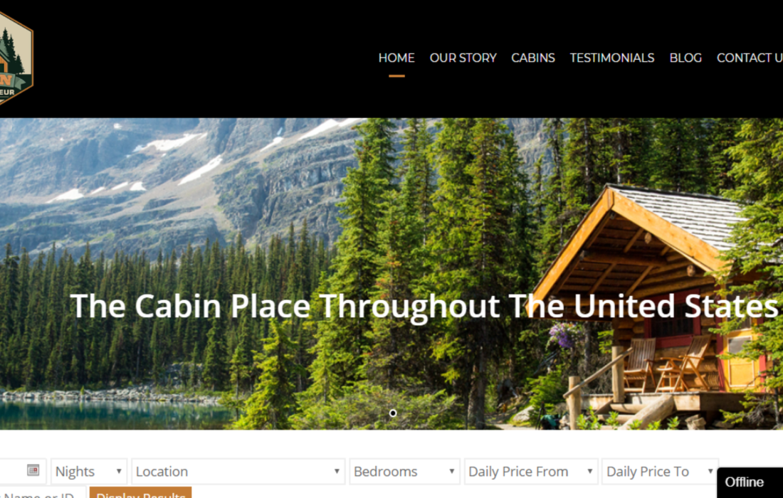 digital marketing, cabin connoisseur marketing, cabin booking website, cabin booking, travel booking website, travel website design, travel websites, mobile website, responsive website, online travel booking